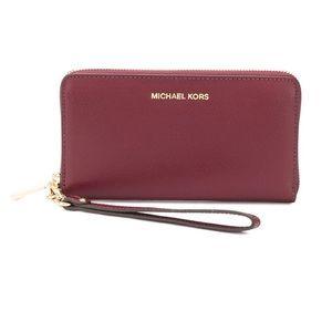 Michael Kors Maroon Wallet/Wristlet